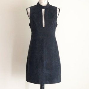 BCBGeneration Black Faux Suede Mini Dress Sz 6